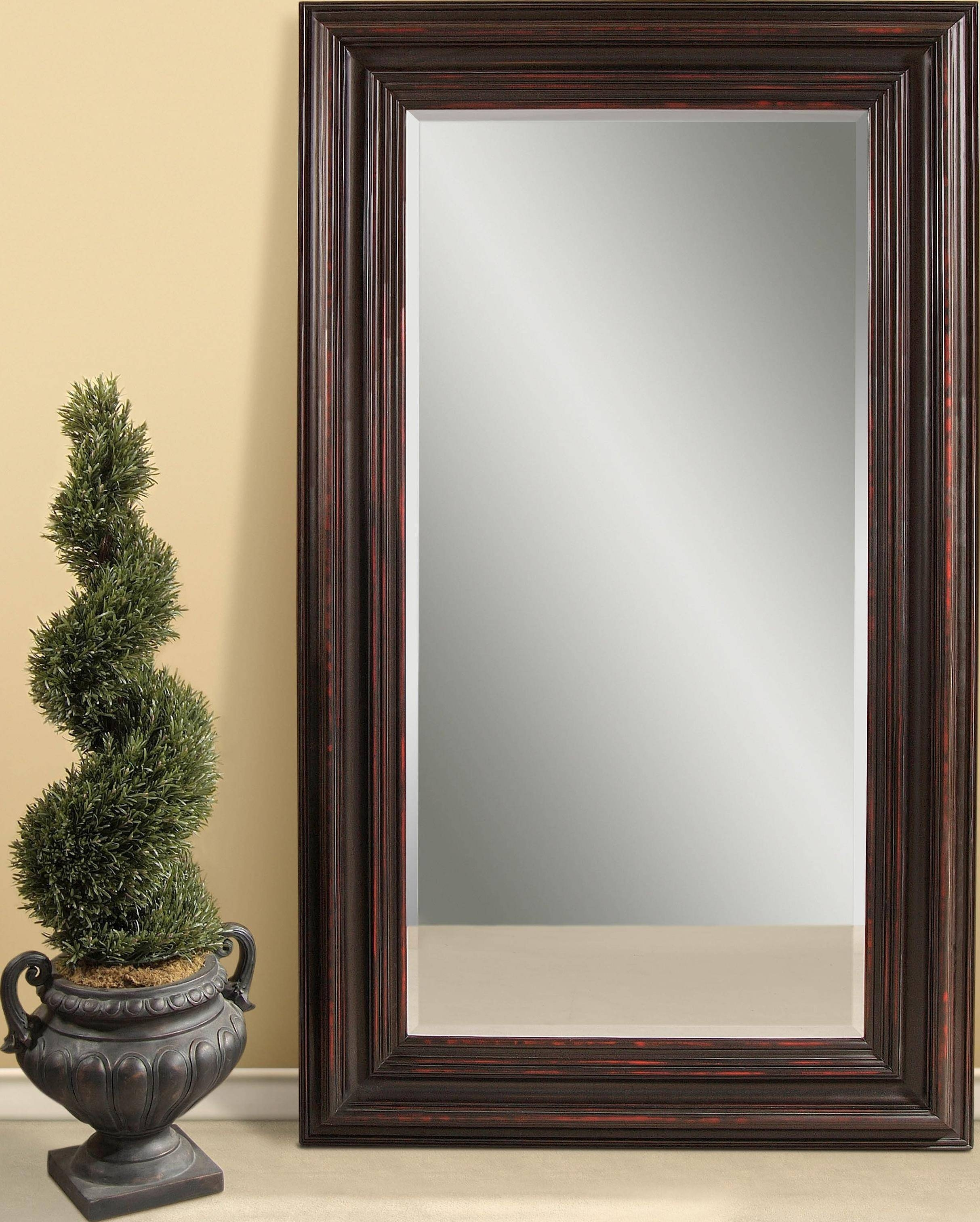 Large Wall Mirror With Frame 9 Awesome Exterior With Decorative in Black Large Mirrors (Image 10 of 15)