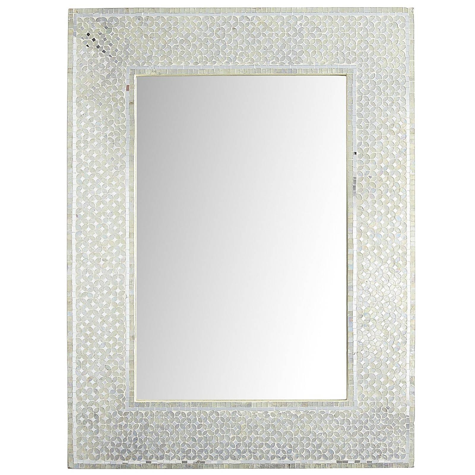 Large White Quatrefoil Mirror Vanity Decoration In Mosaic Mirrors Image 9 Of 15