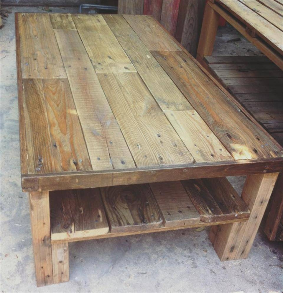 Large Wooden Pallet Coffee Table | 101 Pallets with regard to Large Wood Coffee Tables (Image 11 of 15)