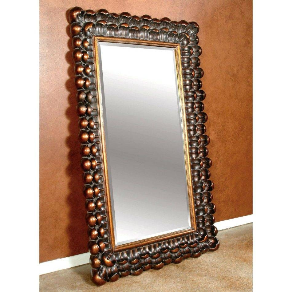 Laura Ashley Large Floor Standing Mirrorlarge Ornate Mirror Regarding Ornate Standing Mirrors (View 7 of 15)