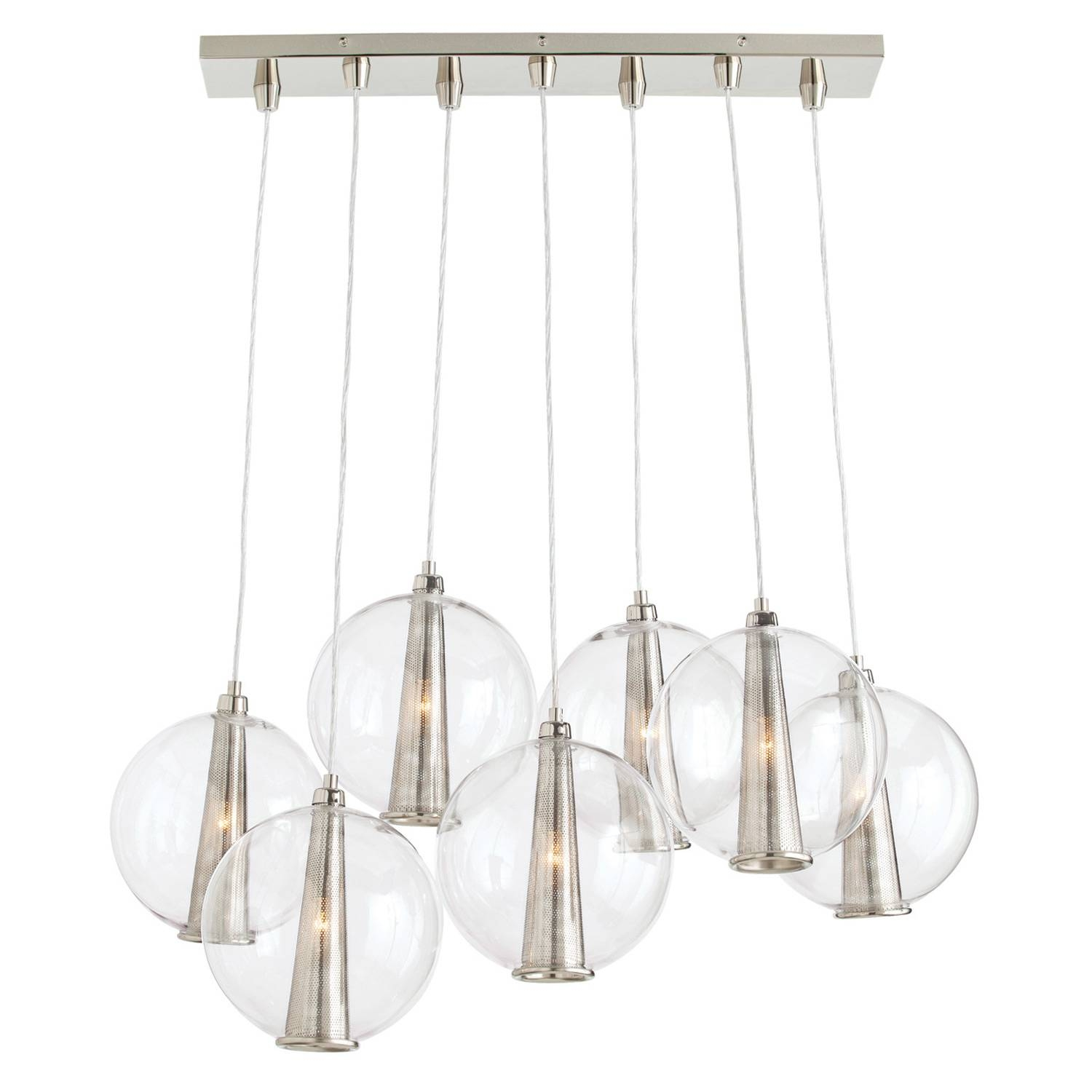 Laura Kirar For Arteriors Caviar Staggered Pendant with regard to Caviar Pendants (Image 14 of 15)