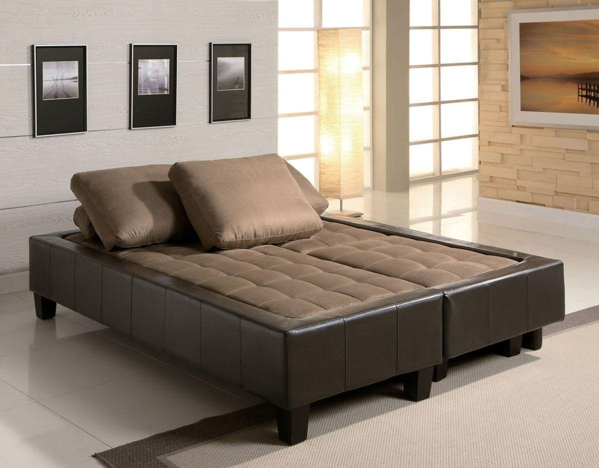 Lauren 3 Piece Sofa Bed Set In Browncoaster regarding Coaster Futon Sofa Beds (Image 11 of 15)