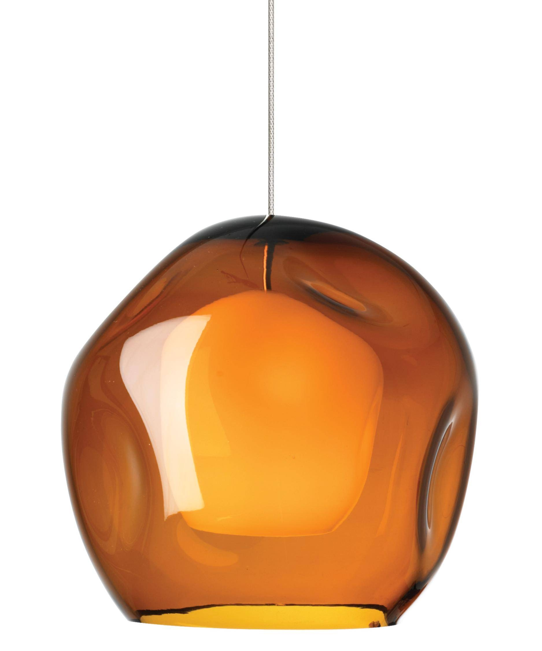 Lbl Lighting 539 Jasper 9 Inch Wide 1 Light Mini Pendant | Capitol inside Orange Glass Pendant Lights (Image 7 of 15)