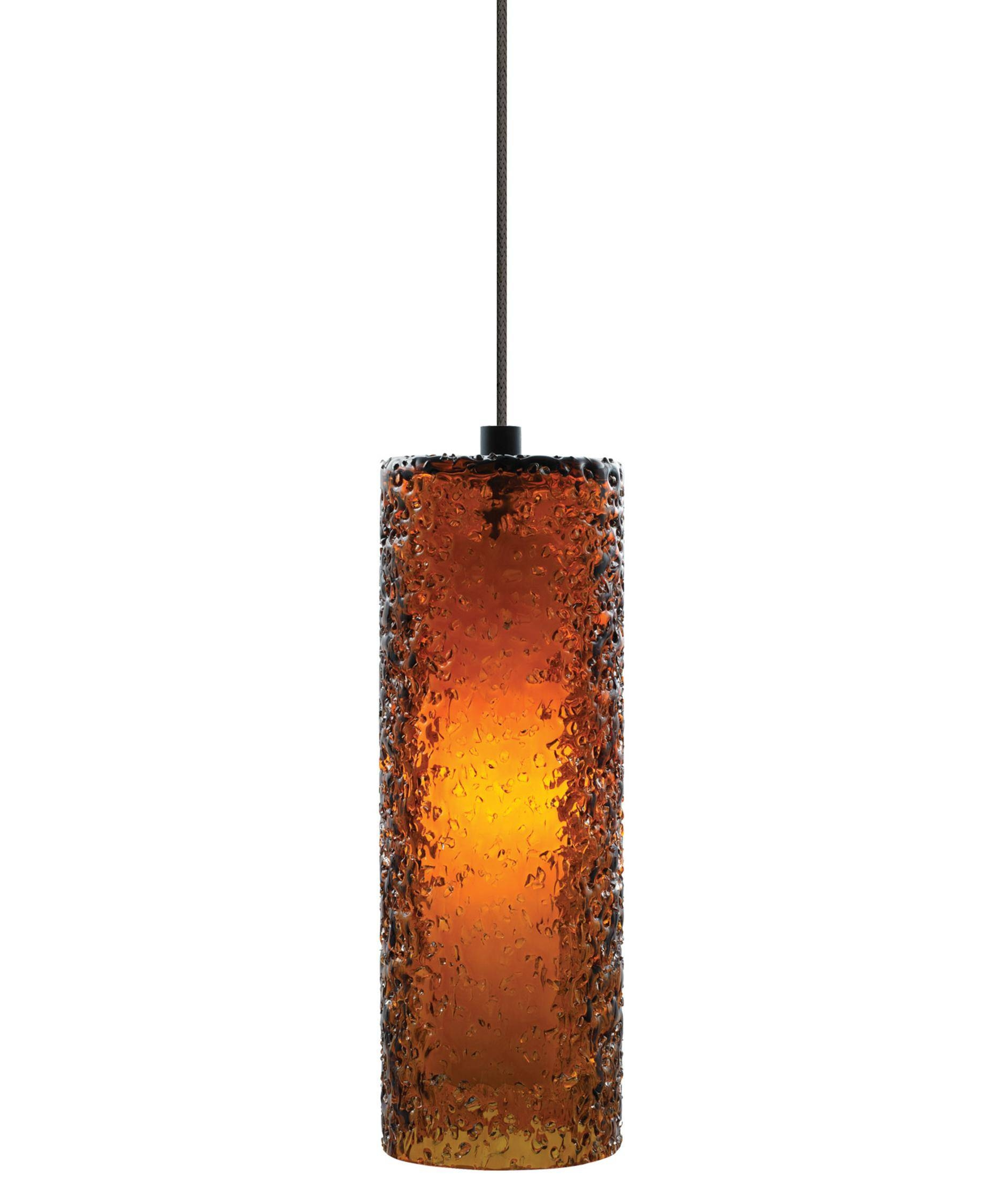 Lbl Lighting 547 Rock Candy Cylinder 4 Inch Wide 1 Light Mini with regard to Brown Glass Pendant Lights (Image 10 of 15)