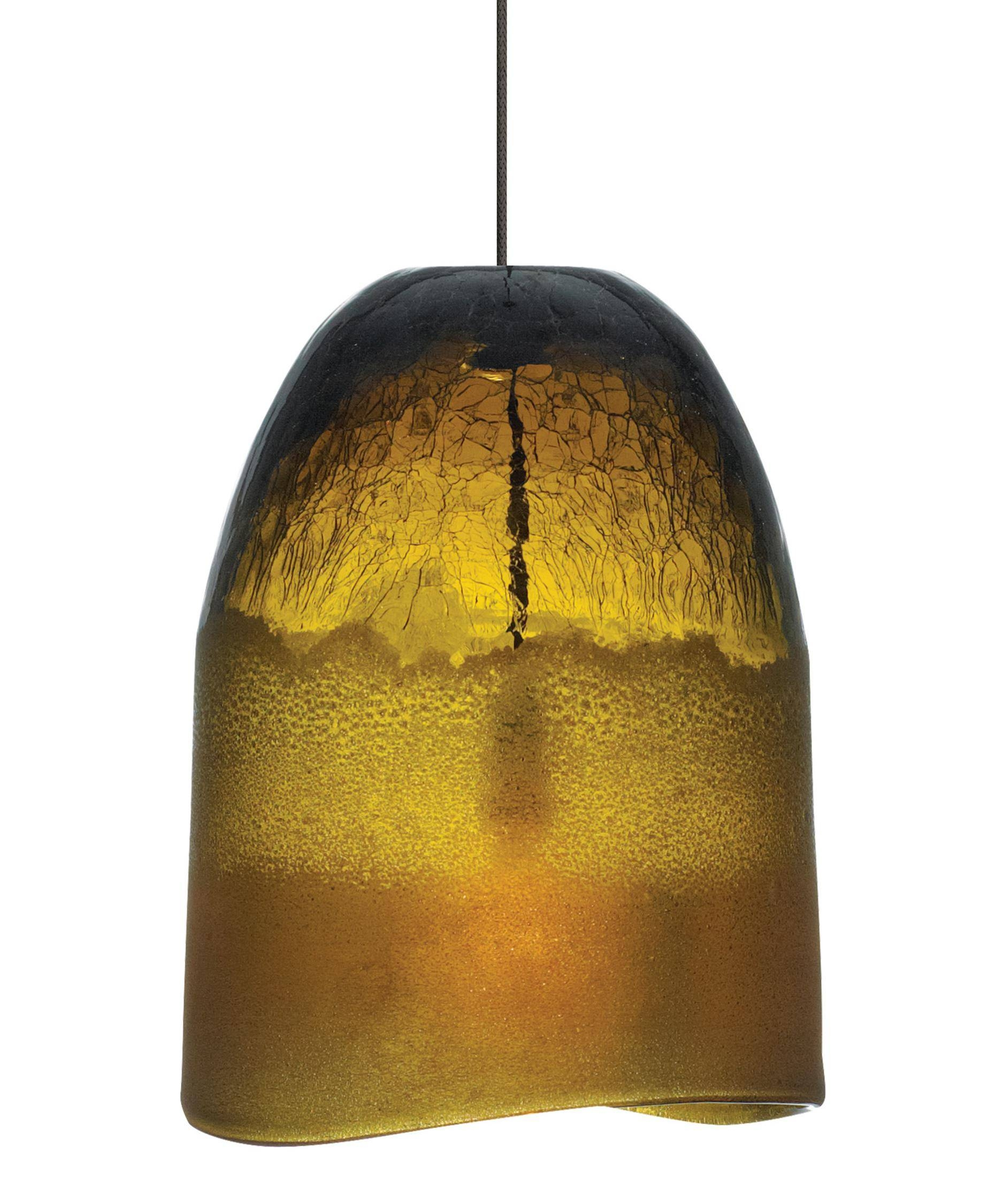 Lbl Lighting 583 Chill 6 Inch Wide 1 Light Mini Pendant | Capitol pertaining to Brown Glass Pendant Lights (Image 12 of 15)