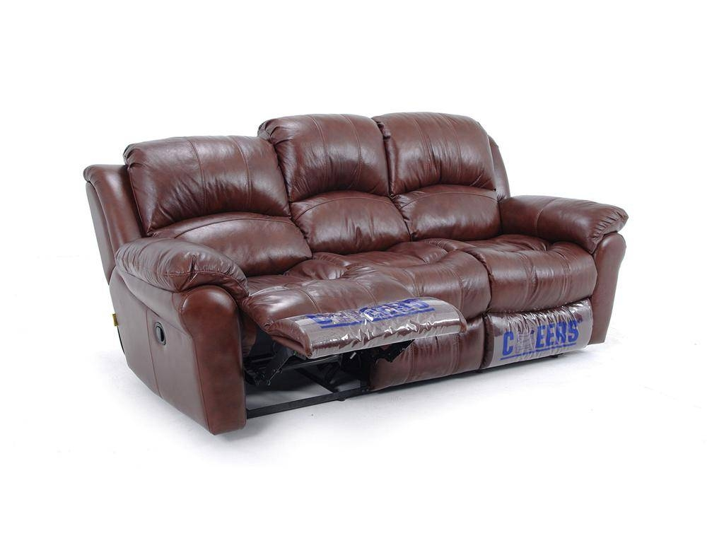 Leather Dual Reclining Sofa in Cheers Recliner Sofas (Image 7 of 15)