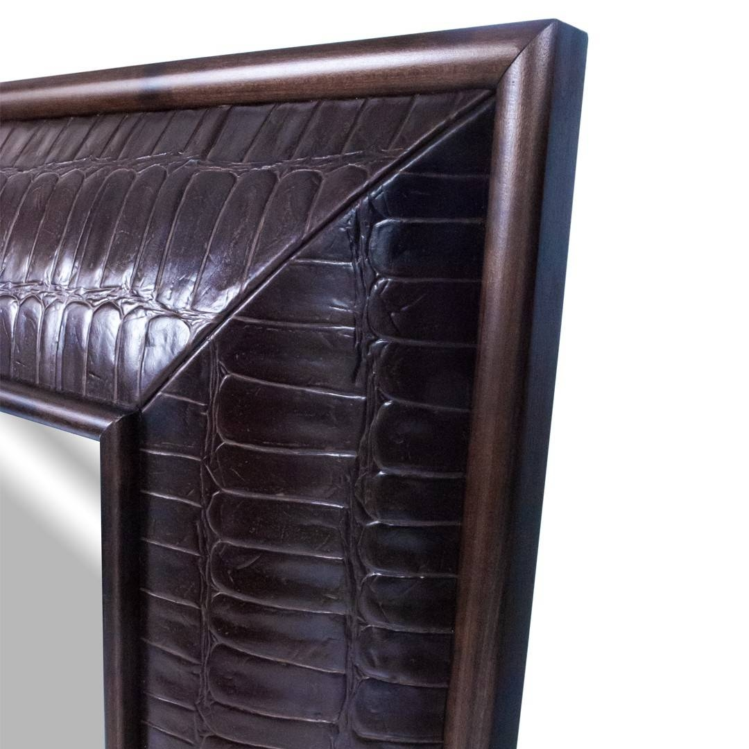 Leather Mirror Alligator Embossed | Kravet Decor Nyc Store Inside Large Leather Mirrors (View 11 of 15)