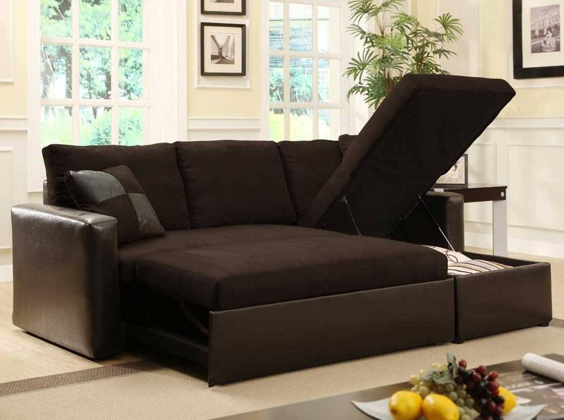 Leather Sectional Sofa Bed With Storage: 12 Appealing Sectional With Regard To Small Sectional Sofas With Storage (View 3 of 15)
