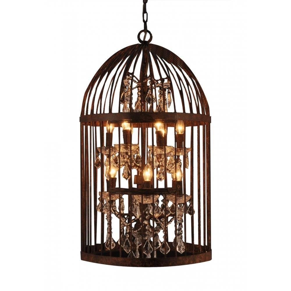 Libra Company Bird Cage 036178 Antique Bronze Lantern Hanging with Birdcage Lighting Chandeliers (Image 11 of 15)