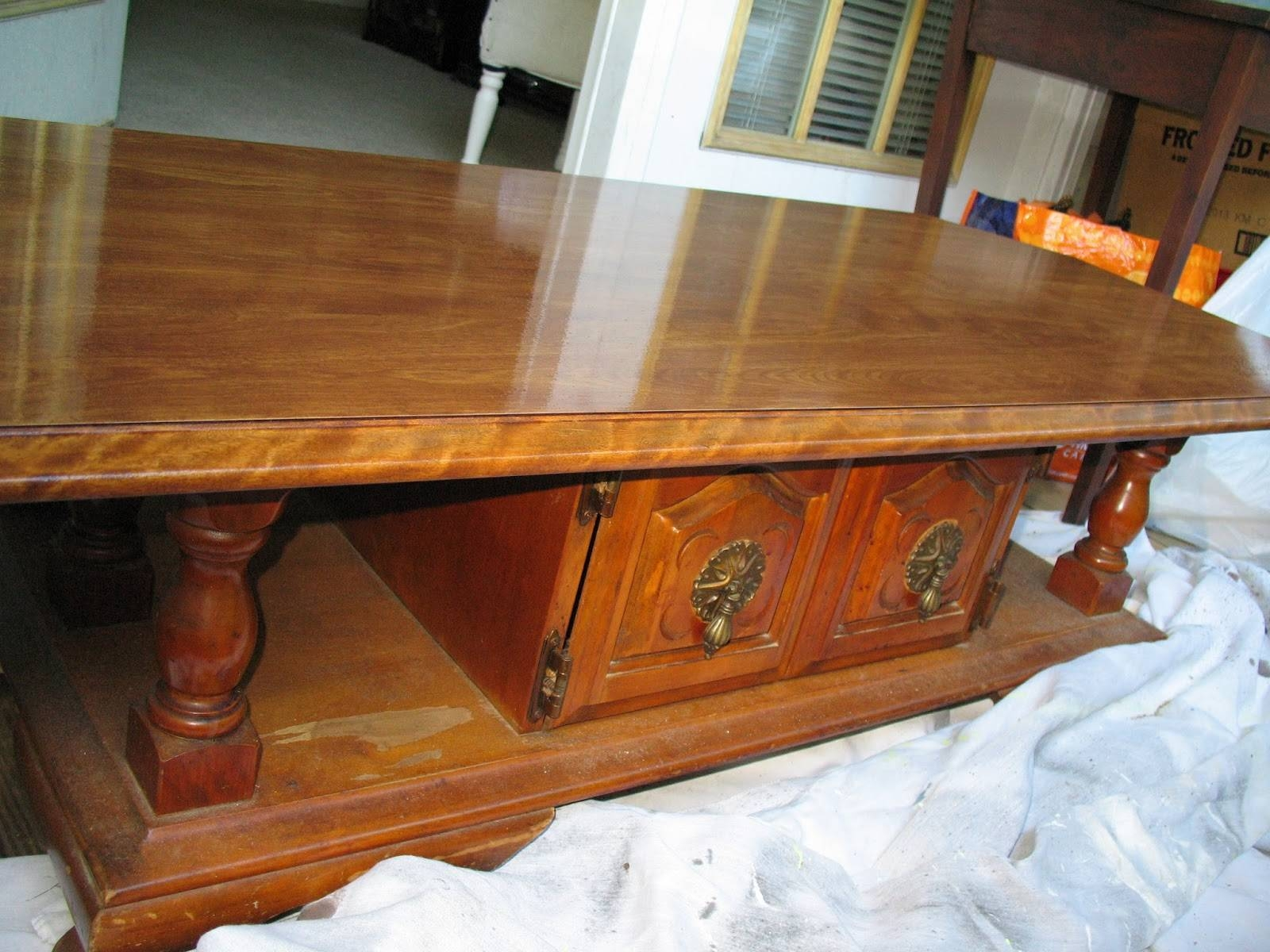 Life Between Potato And Rice: Huge Coffee Table Makeover ( Almost pertaining to Huge Coffee Tables (Image 12 of 15)