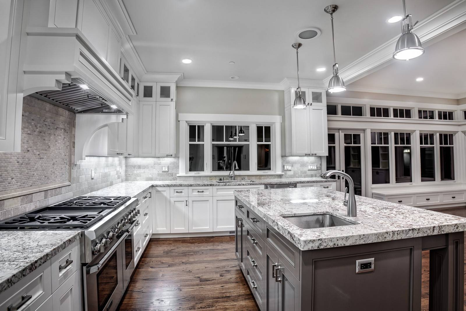 Light Grey Kitchen Cabinets Stainless Steel Single Handle in Stainless Steel Kitchen Lights (Image 9 of 15)