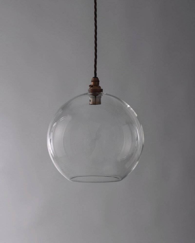 Light, Hereford Clear Glass Globe Pendant Light for Glass Ball Pendant Lights Uk (Image 11 of 15)