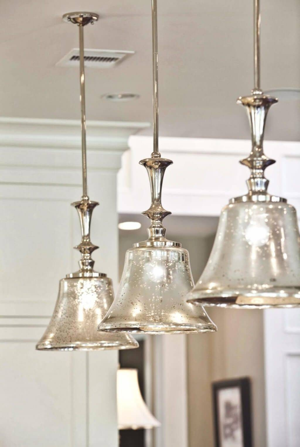 Popular Photo of Crackle Glass Pendant Lights