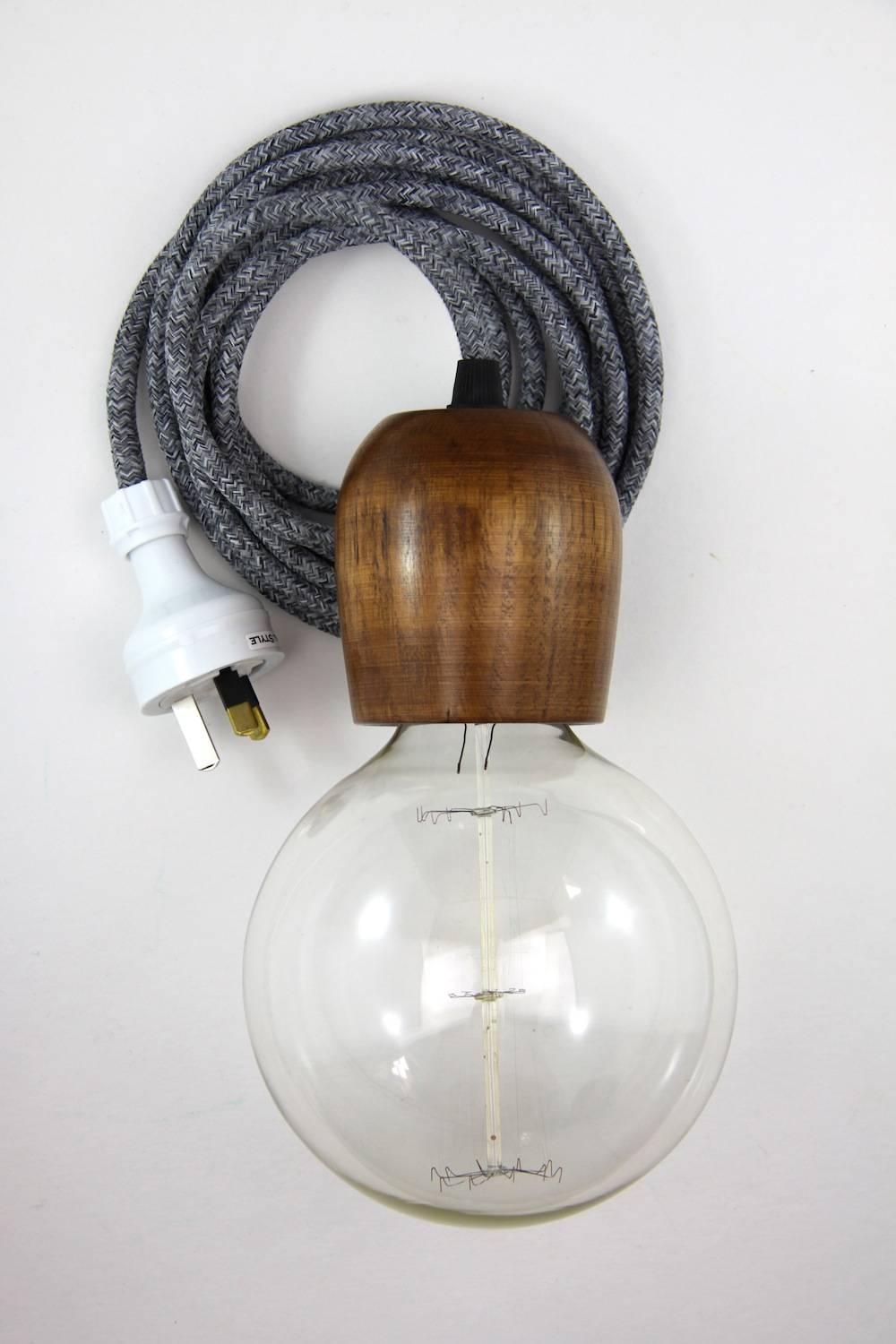 Lighting: Awesome Plug In Pendant Light With Strong Cable And Bulb within Plugin Ceiling Pendant Lights (Image 6 of 15)