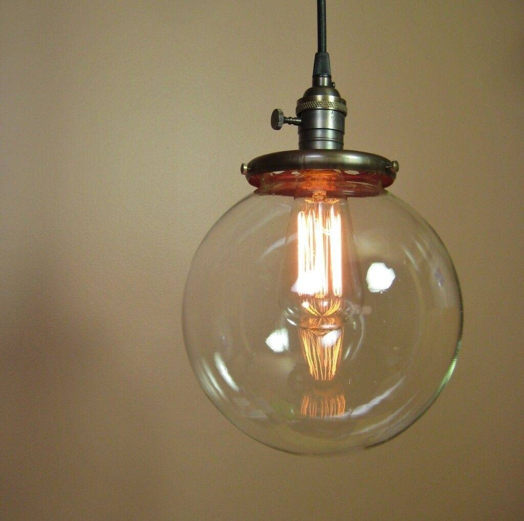 Lighting: Best Rustic Sphere Clear Glass Mini Pendant Light Inside Rustic Clear Glass Pendant Lights (View 13 of 15)