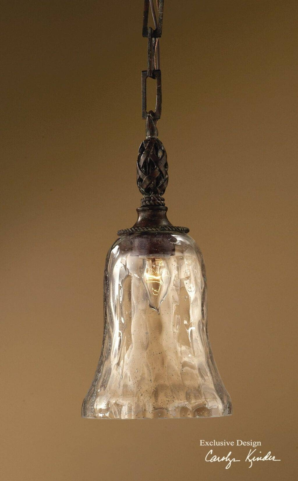 Lighting: Best Rustic Sphere Clear Glass Mini Pendant Light Regarding Rustic Clear Glass Pendant Lights (View 6 of 15)