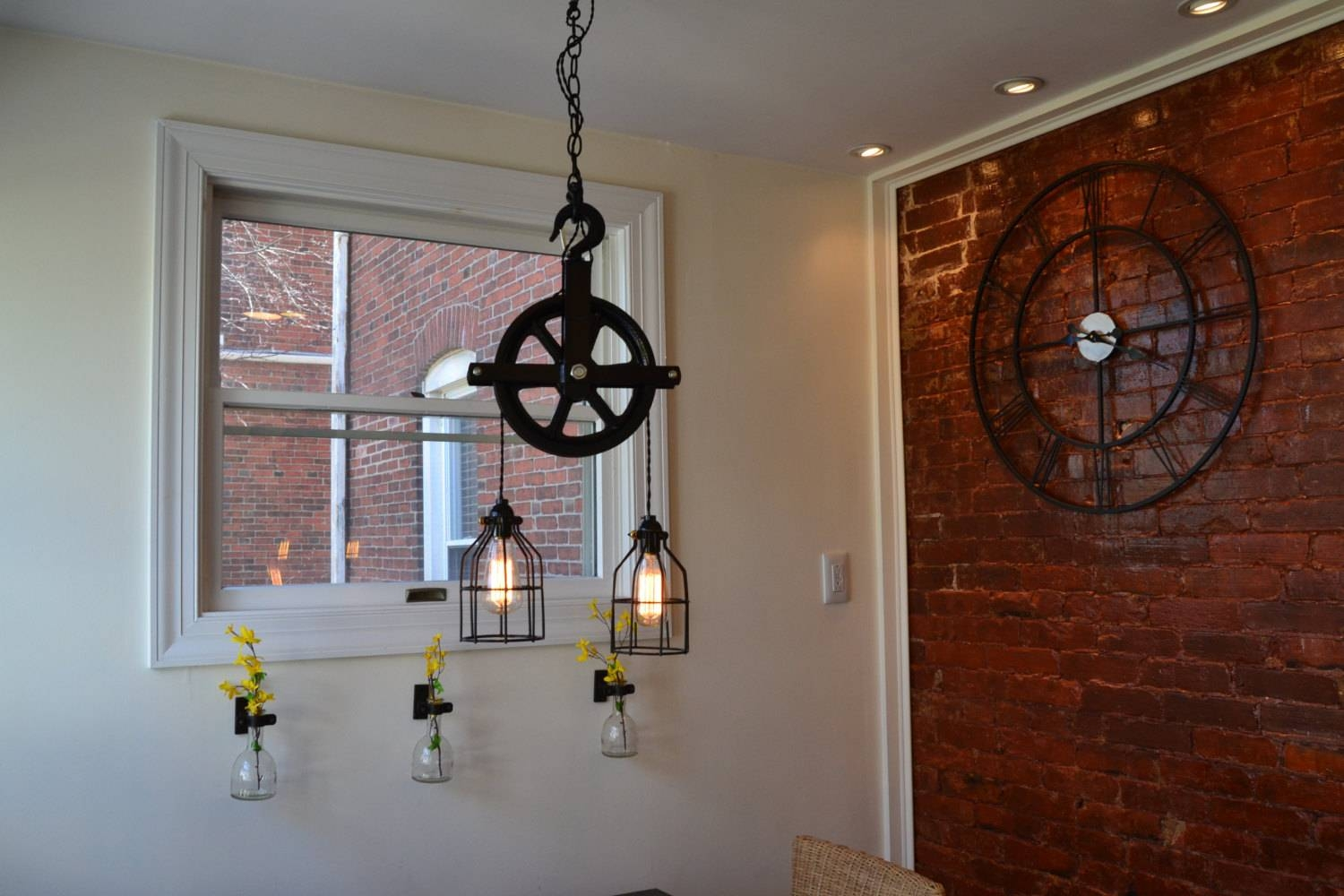 Lighting Ceiling Fixture Ceiling Light Industrial Light with regard to Pulley Lights Fixtures (Image 8 of 15)