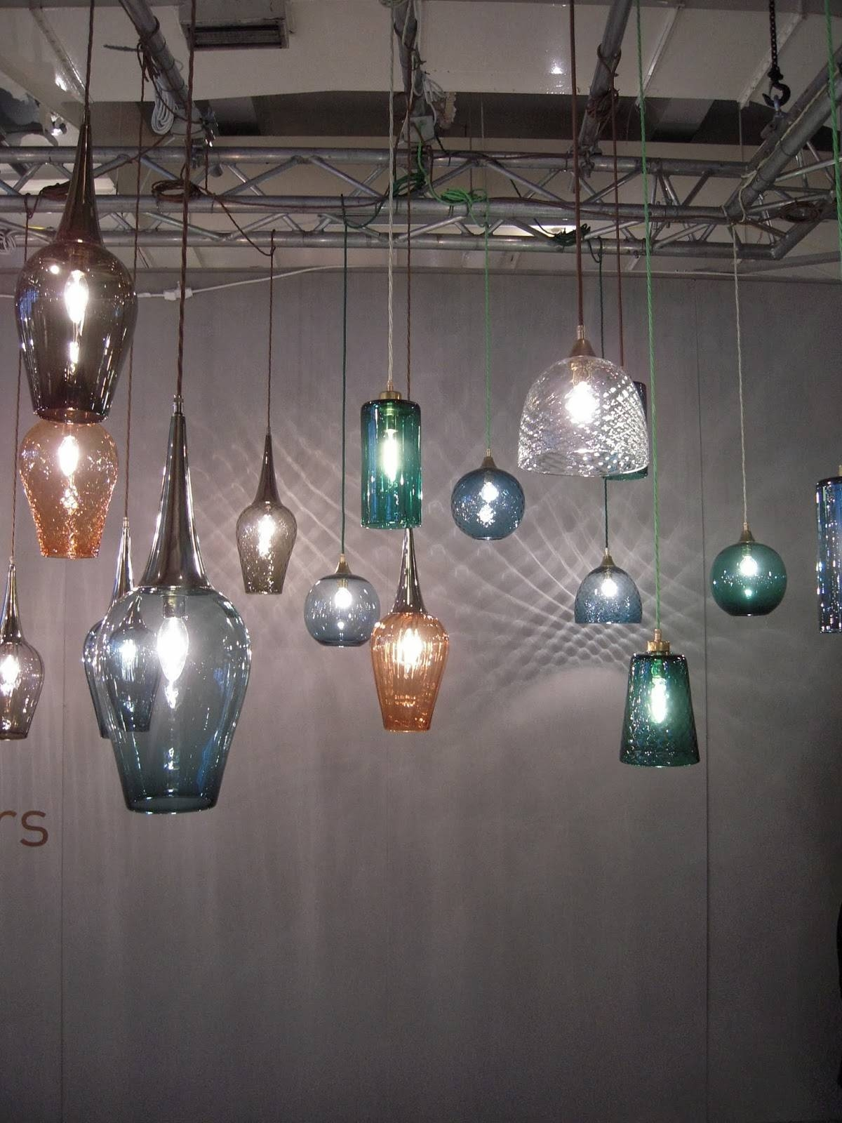 Lighting Design : Adorable Hand Blown Glass Shades For Pendant with regard to Hand Blown Glass Pendants (Image 15 of 15)