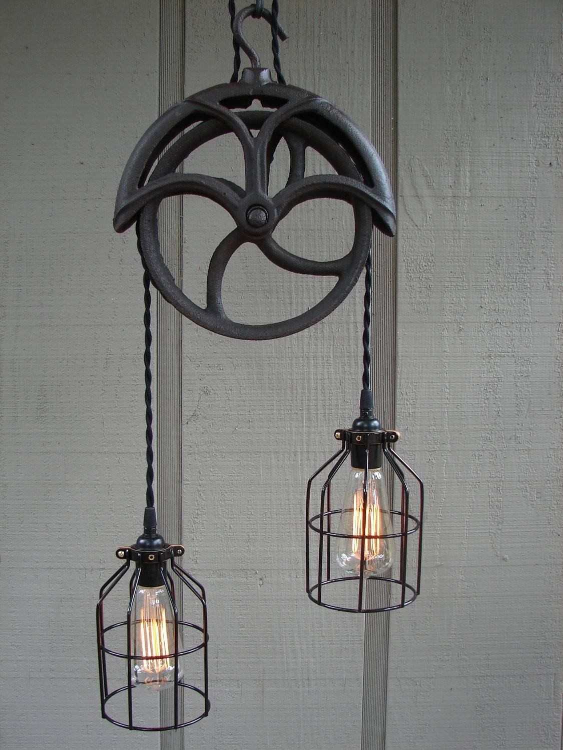 Lighting Design Ideas: Pulley Pendant Light Fixture Adjustable pertaining to Pulley Lights Fixtures (Image 9 of 15)