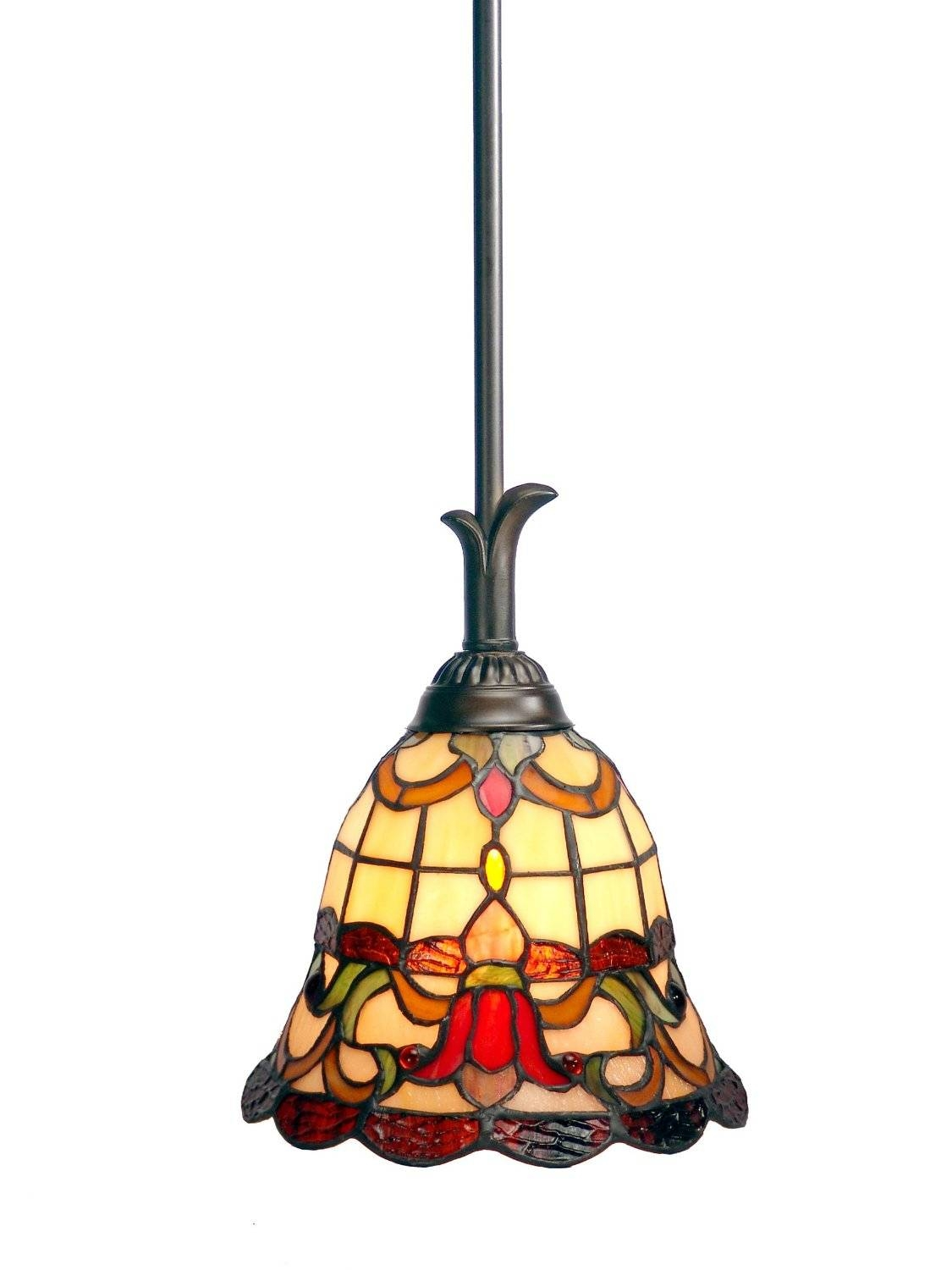 Lighting Design : Stained Glass Pendant Lamp Shade Patterns Regarding Stained Glass Pendant Lights Patterns (View 3 of 15)