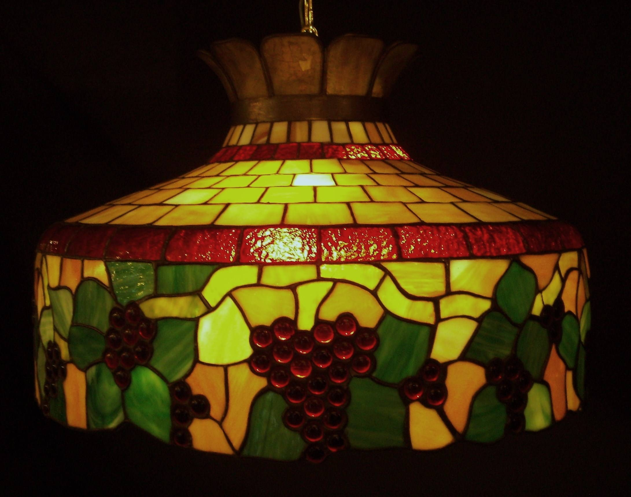 Lighting: Lamp Shades On Pinterest With Stained Glass Lamps And intended for Stained Glass Lamps Pendant Lights (Image 2 of 15)