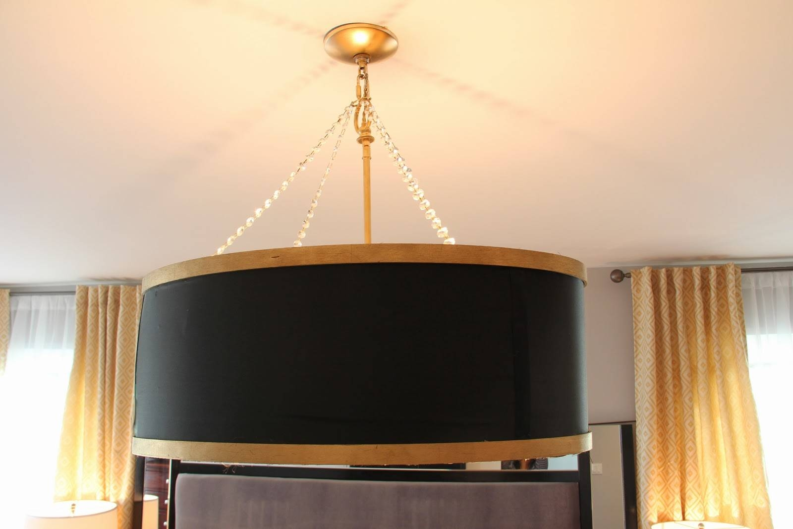 Lighting: Oversized Drum Shade Chandelier And Black Drum intended for Black Drum Pendants (Image 13 of 15)