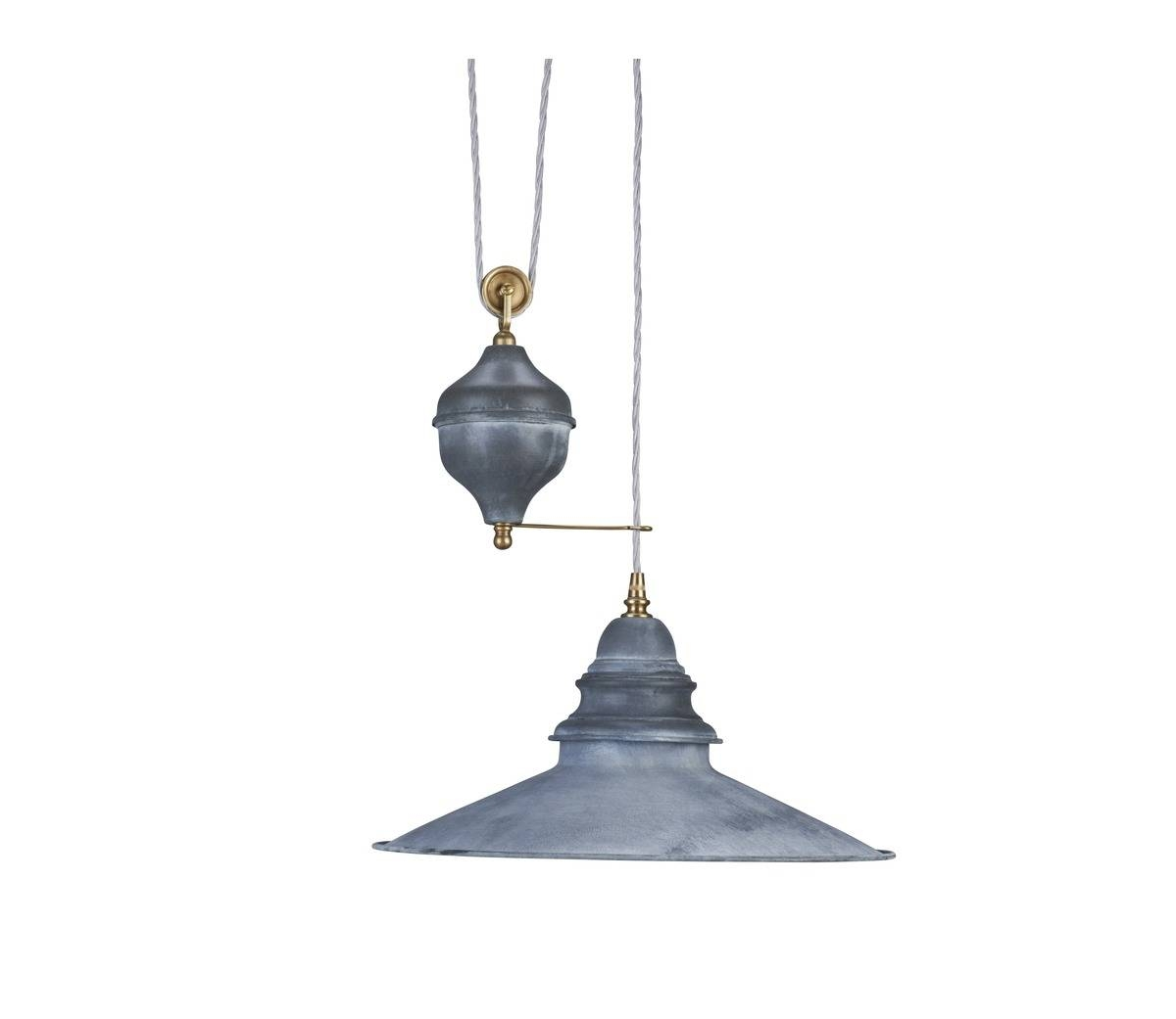Lighting > Pendant > Zinc Rise And Fall Light - The French House intended for Rise and Fall Pendants (Image 9 of 15)