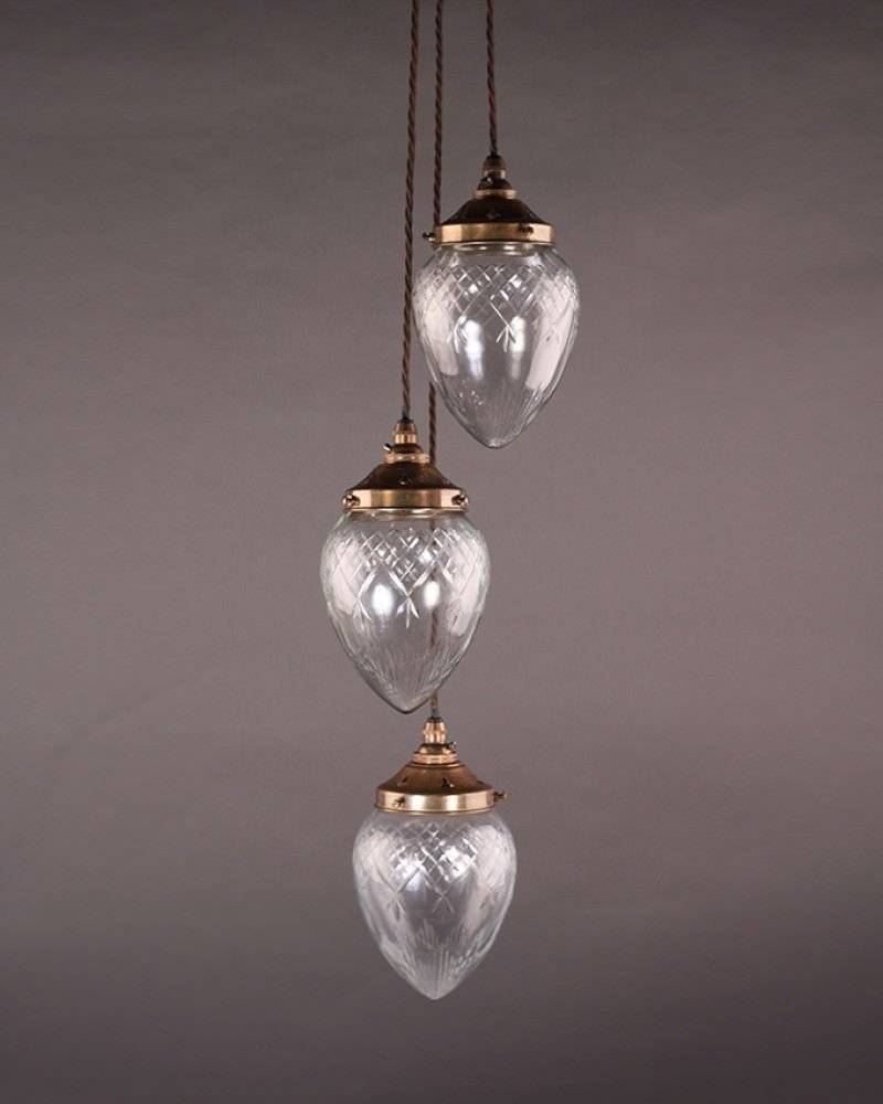 Lighting, Penyard Cut Glass Pendant Light in Edwardian Lamp Pendant Lights (Image 10 of 15)
