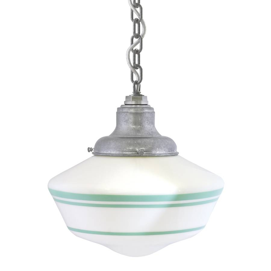 Lighting: Schoolhouse Lighting | Schoolhouse Pendant Light Brushed For Galvanized Pendant Barn Lights (View 15 of 15)