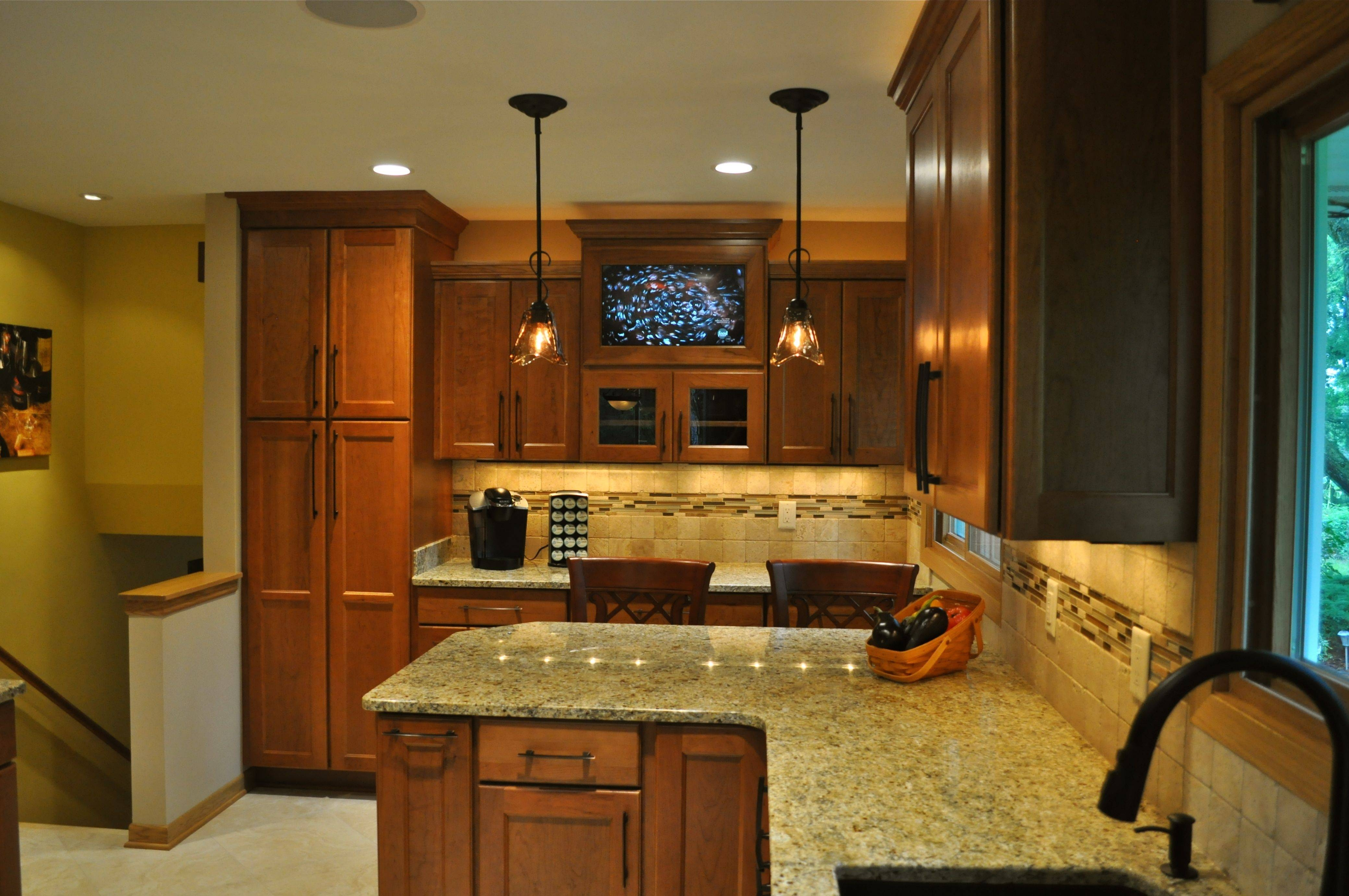 Lights Above Kitchen Island ~ Picgit Pertaining To Single Pendant Lighting For Kitchen Island (View 7 of 15)