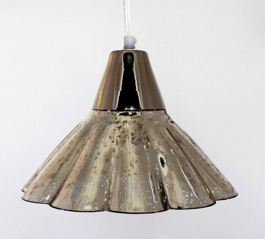 Lights: Antique Interior Lights Design Ideas With Mercury Glass In Serena Antique Mercury Glass Pendants (View 9 of 15)