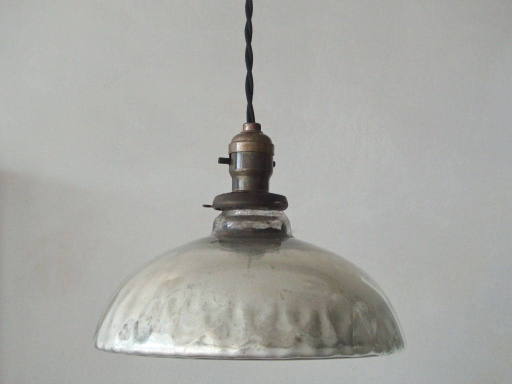 Lights: Antique Interior Lights Design Ideas With Mercury Glass inside Mercury Glass Globes Pendant Lights (Image 3 of 15)
