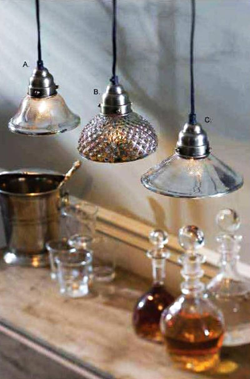Lights: Antique Interior Lights Design Ideas With Mercury Glass Throughout Serena Antique Mercury Glass Pendants (View 11 of 15)