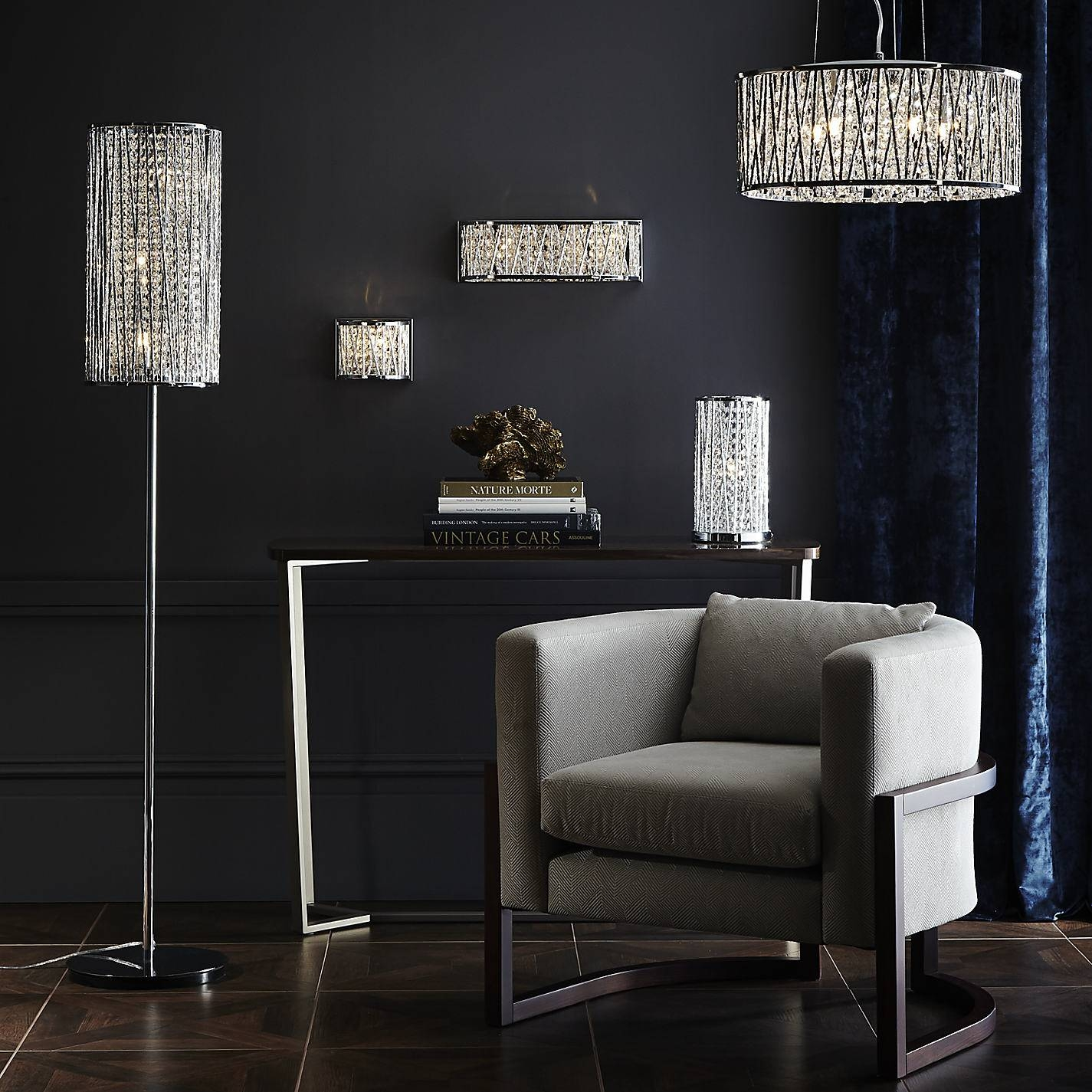 Lights: Cheap Chandelier Floor Lamp | Chrome Arc Lamp | Crystal within John Lewis Pendant Light Shades (Image 12 of 15)