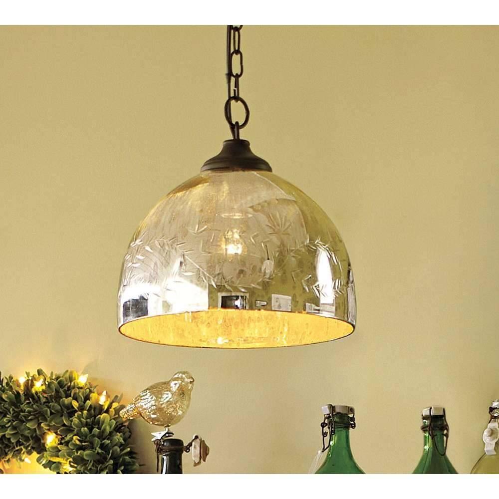 Lights: Globe Pendant Light Fixture   Mercury Glass Pendant Light within Mercury Glass Globes Pendant Lights (Image 7 of 15)