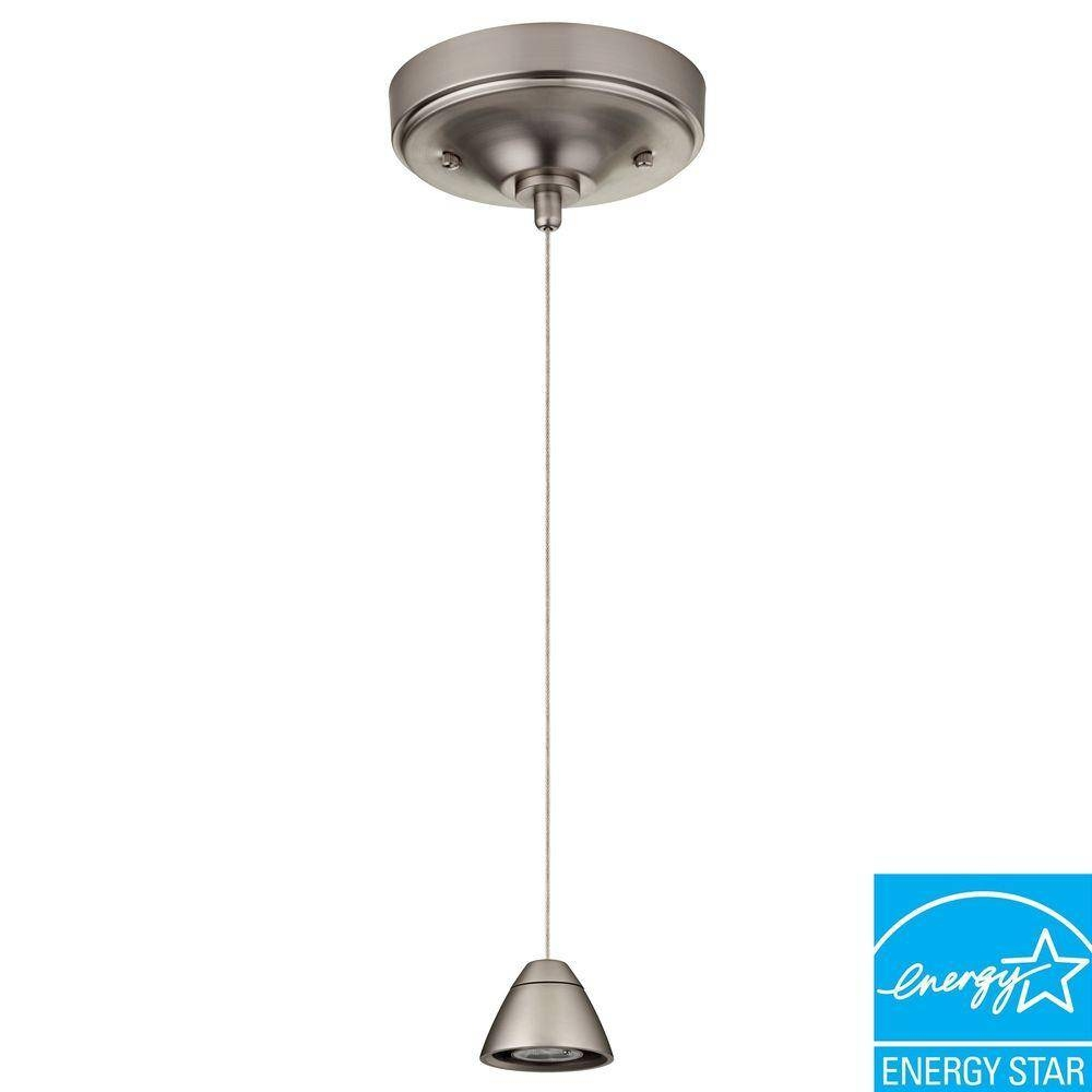 Lithonia Lighting 3-Light Brushed Nickel Led Bullet Mini Pendant within 3 Lights Pendant Fitter (Image 6 of 15)