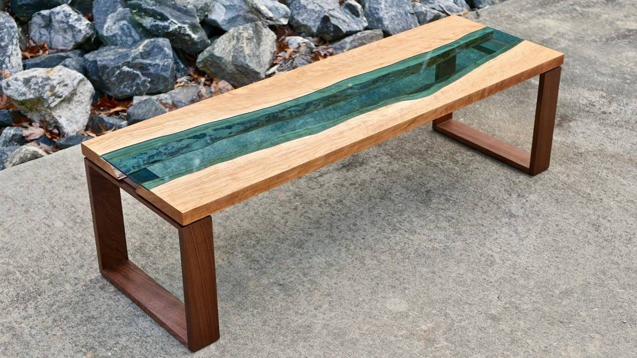 Live Edge River Coffee Table | How To Build - Woodworking - Youtube within Live Edge Coffee Tables (Image 12 of 15)