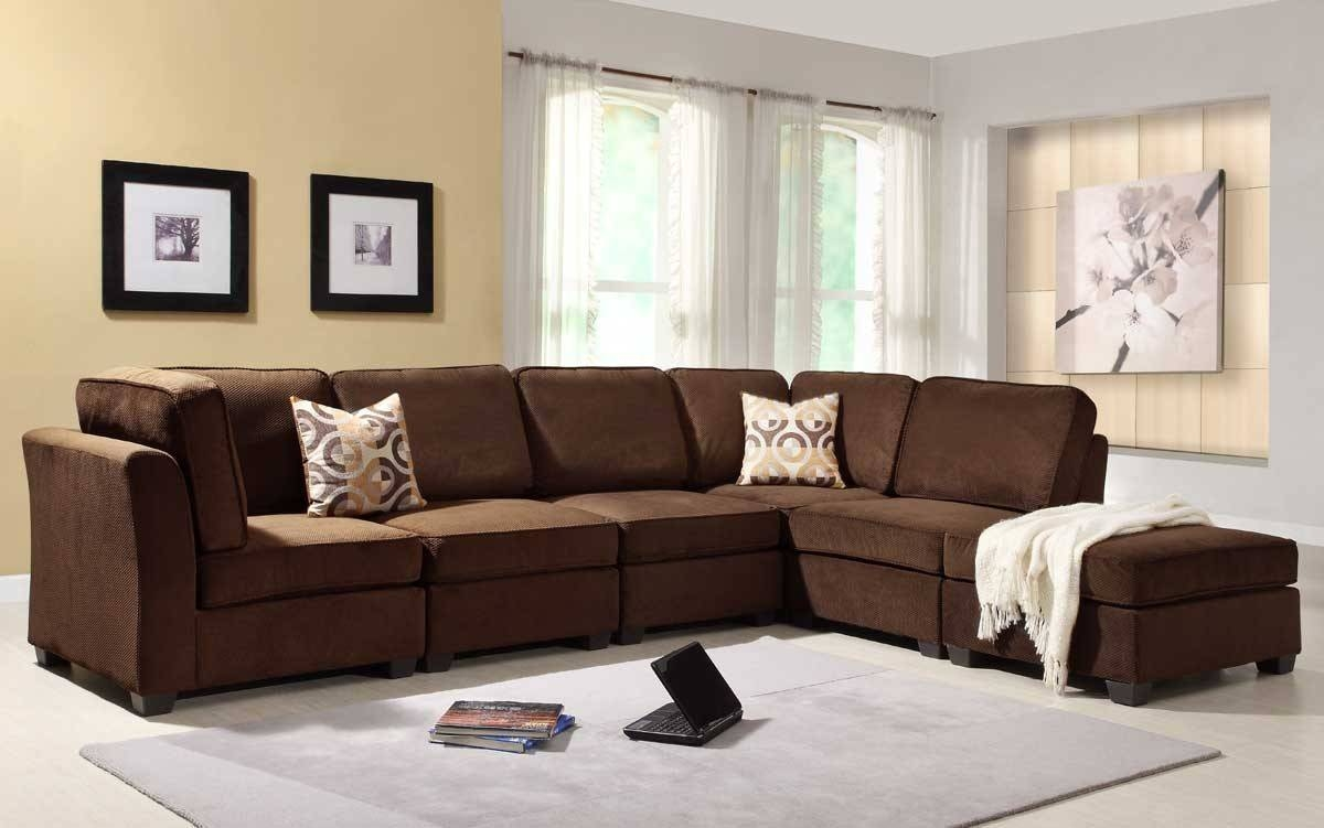 Living Room : Attractive Chocolate Brown Sofa Living Room Ideas with regard to Chocolate Brown Microfiber Sectional Sofas (Image 8 of 15)