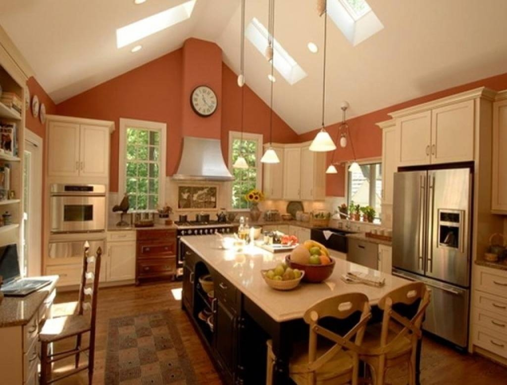 Living Room : Clock Pendant Light Ceiling Lamp Refrigerator within Vaulted Ceiling Pendant Lights (Image 9 of 15)