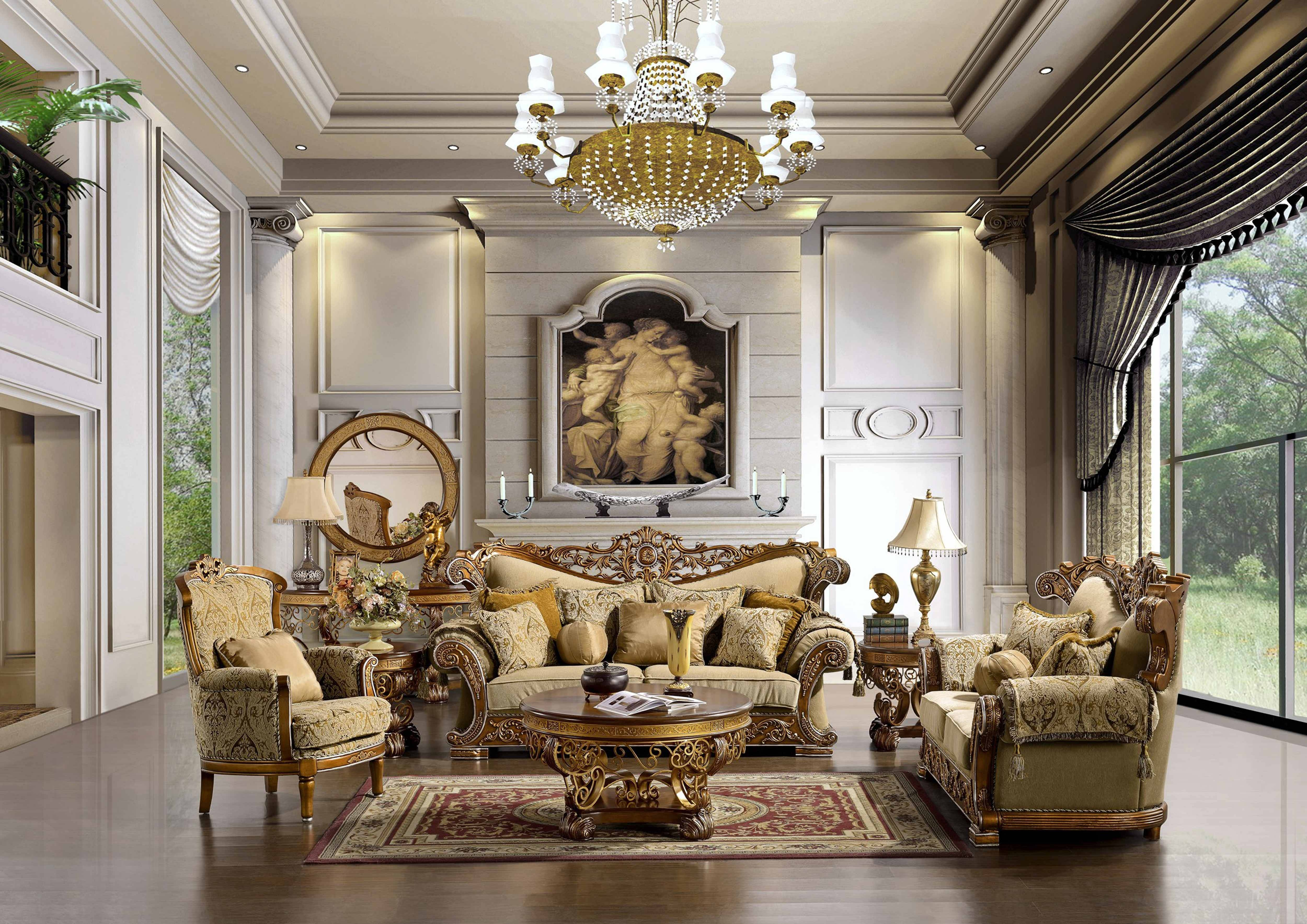 Living Room: Luxury Living Room With Classy Sofa Set With Elegant intended for Elegant Sofas and Chairs (Image 12 of 15)