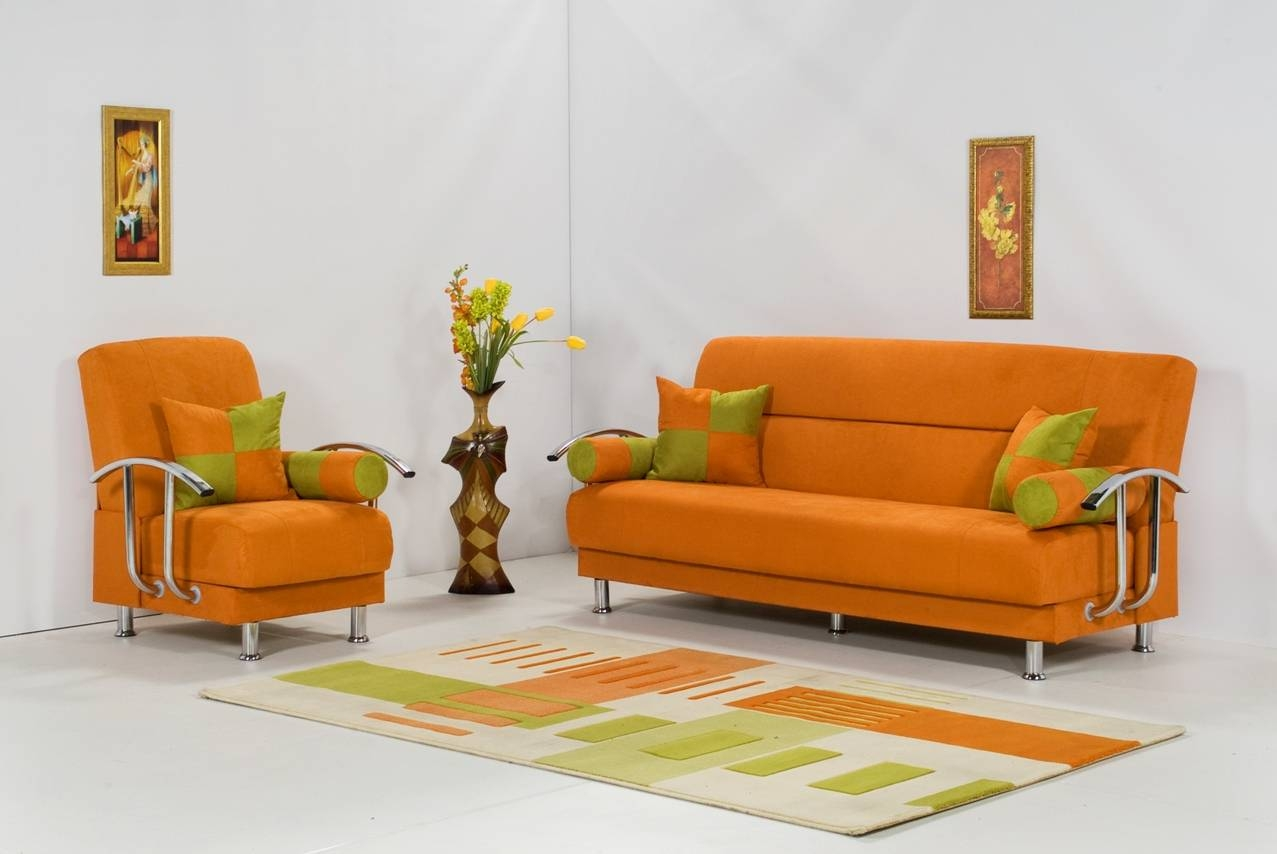 Living Room: Orange Living Room Furniture Photo. Grey And Orange with regard to Orange Sofa Chairs (Image 8 of 15)