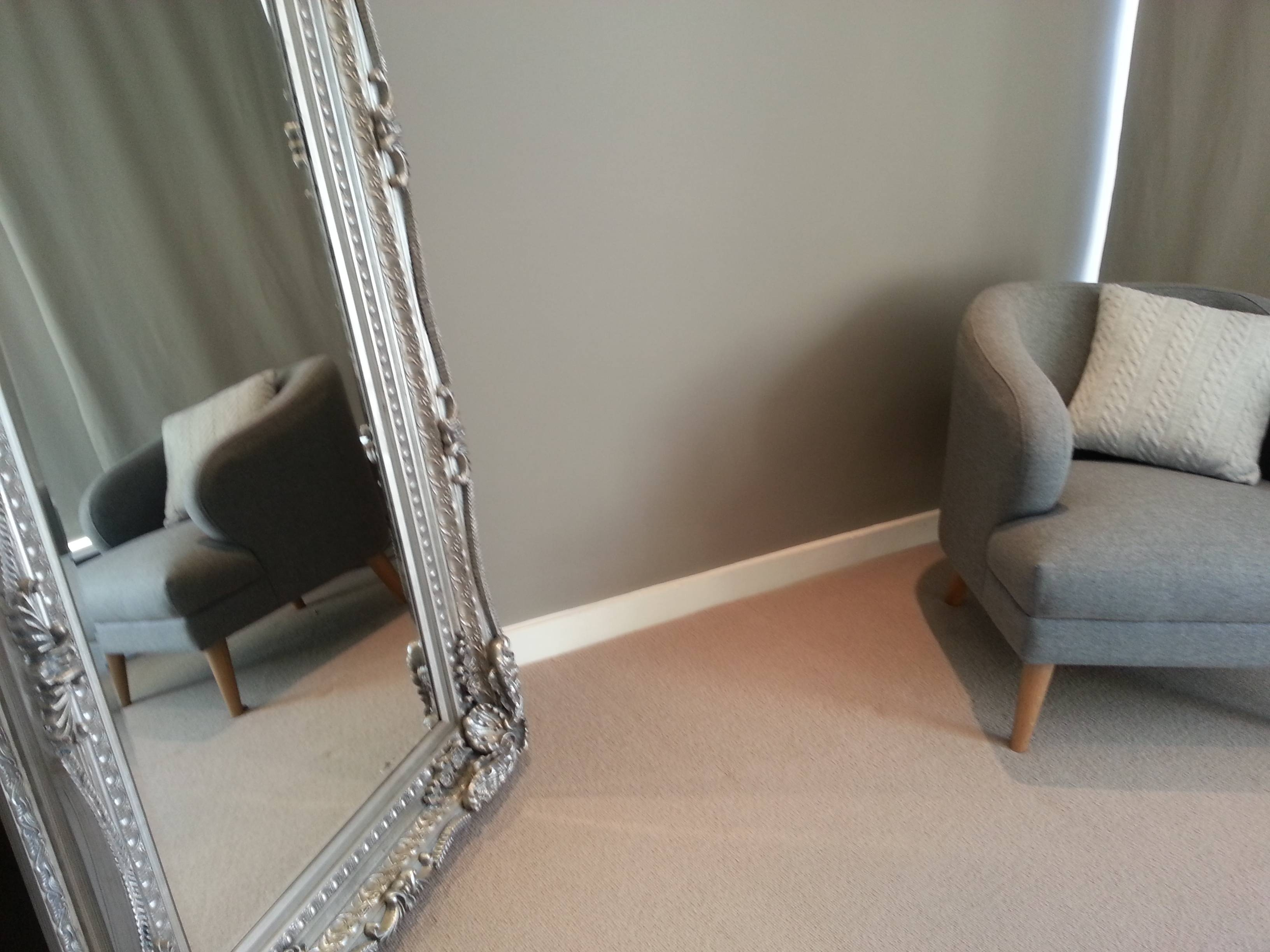 London Property Styling, Home-Staging Master Bedroom Of House For Sale in Large Free Standing Mirrors (Image 11 of 15)