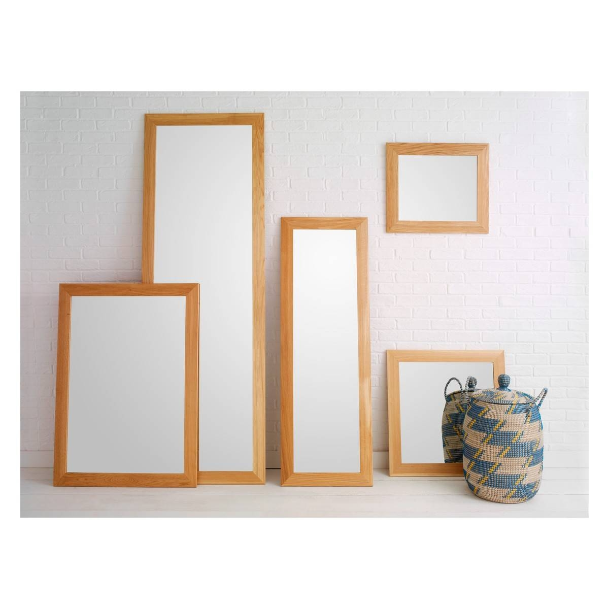 Long Mirrors For Walls 76 Inspiring Style For Mirror Wall regarding Oak Mirrors (Image 3 of 15)