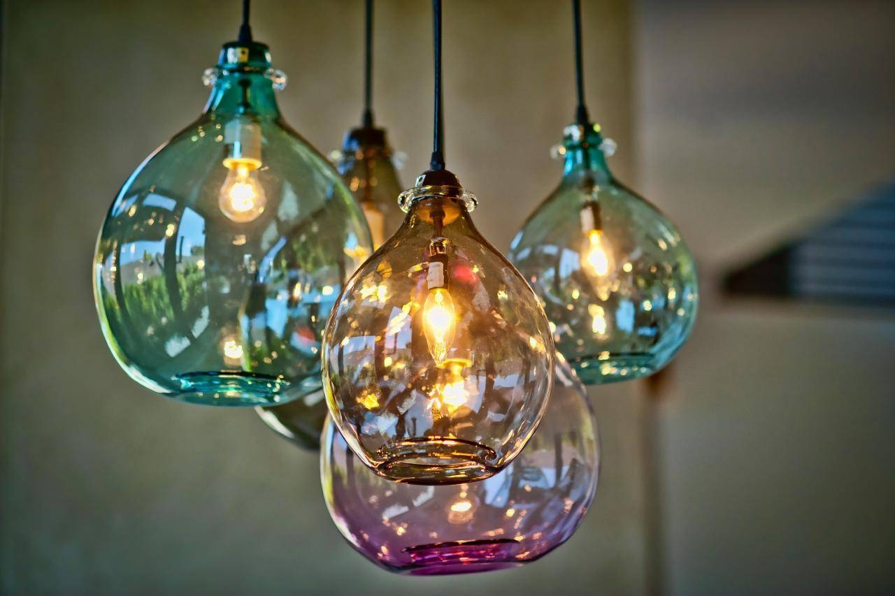 Lovely Hand Blown Pendant Lights 18 For Your Blue Mini Pendant throughout Turquoise Blue Glass Pendant Lights (Image 5 of 15)