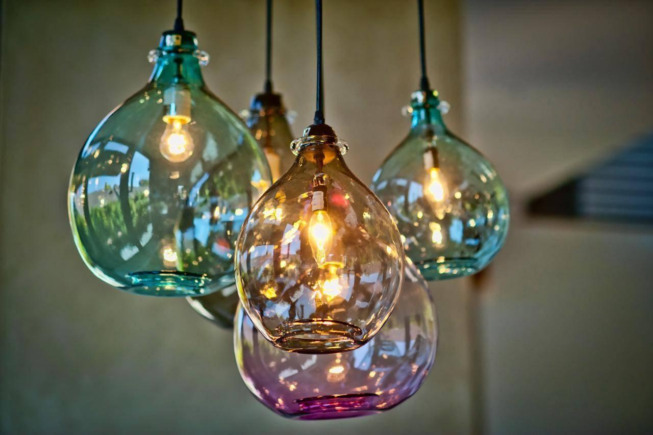 Aqua Glass Light Pendant