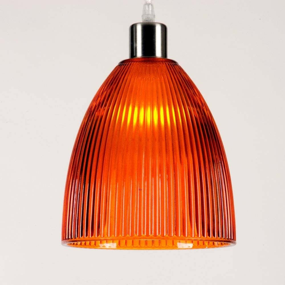 Lovely Orange Pendant Light Pertaining To House Decor Pictures Inside Orange Glass Pendant Lights (View 8 of 15)