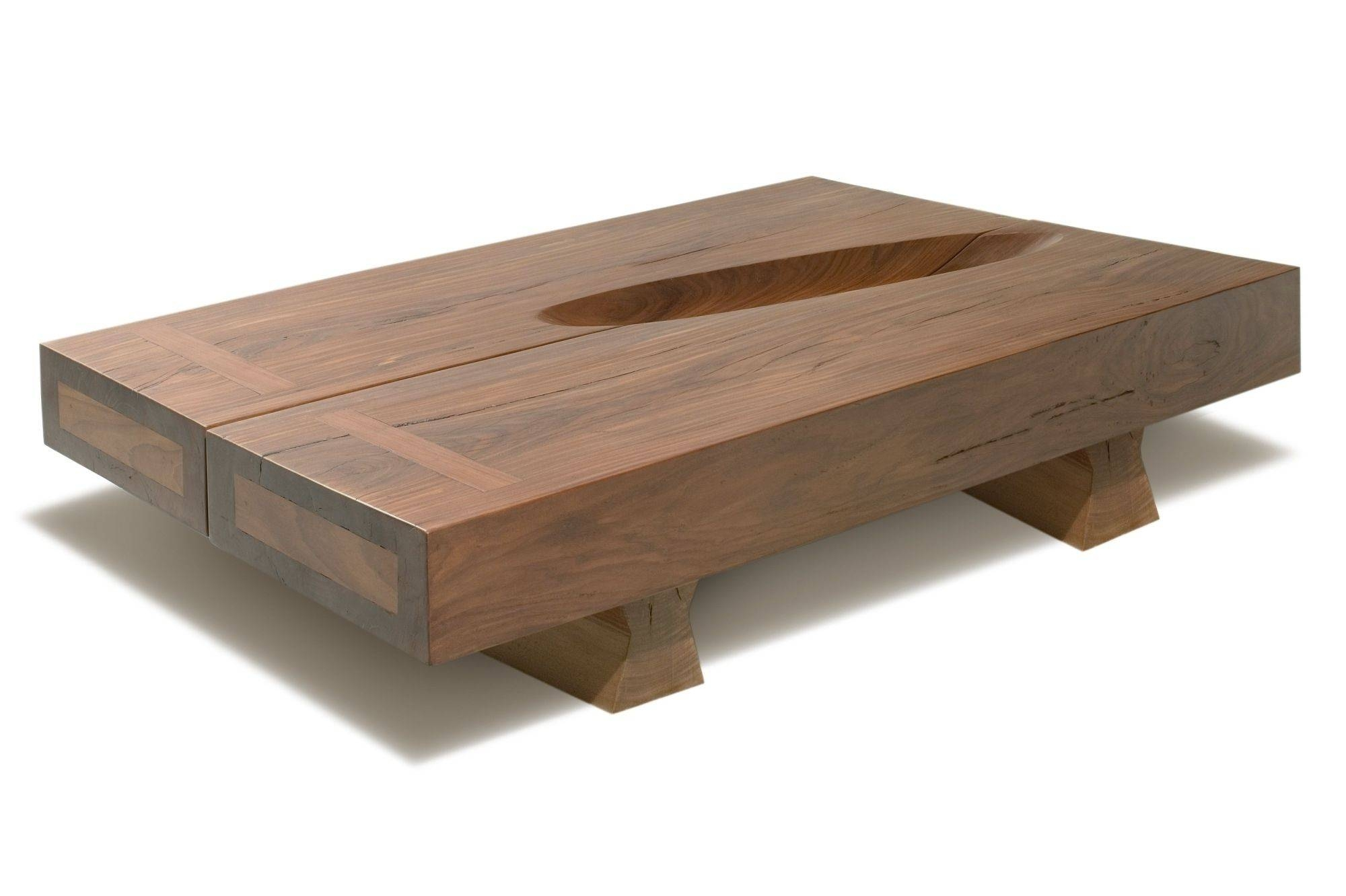 Low Chunky Wooden Coffee Table - Coffee Addicts intended for Low Wooden Coffee Tables (Image 6 of 15)