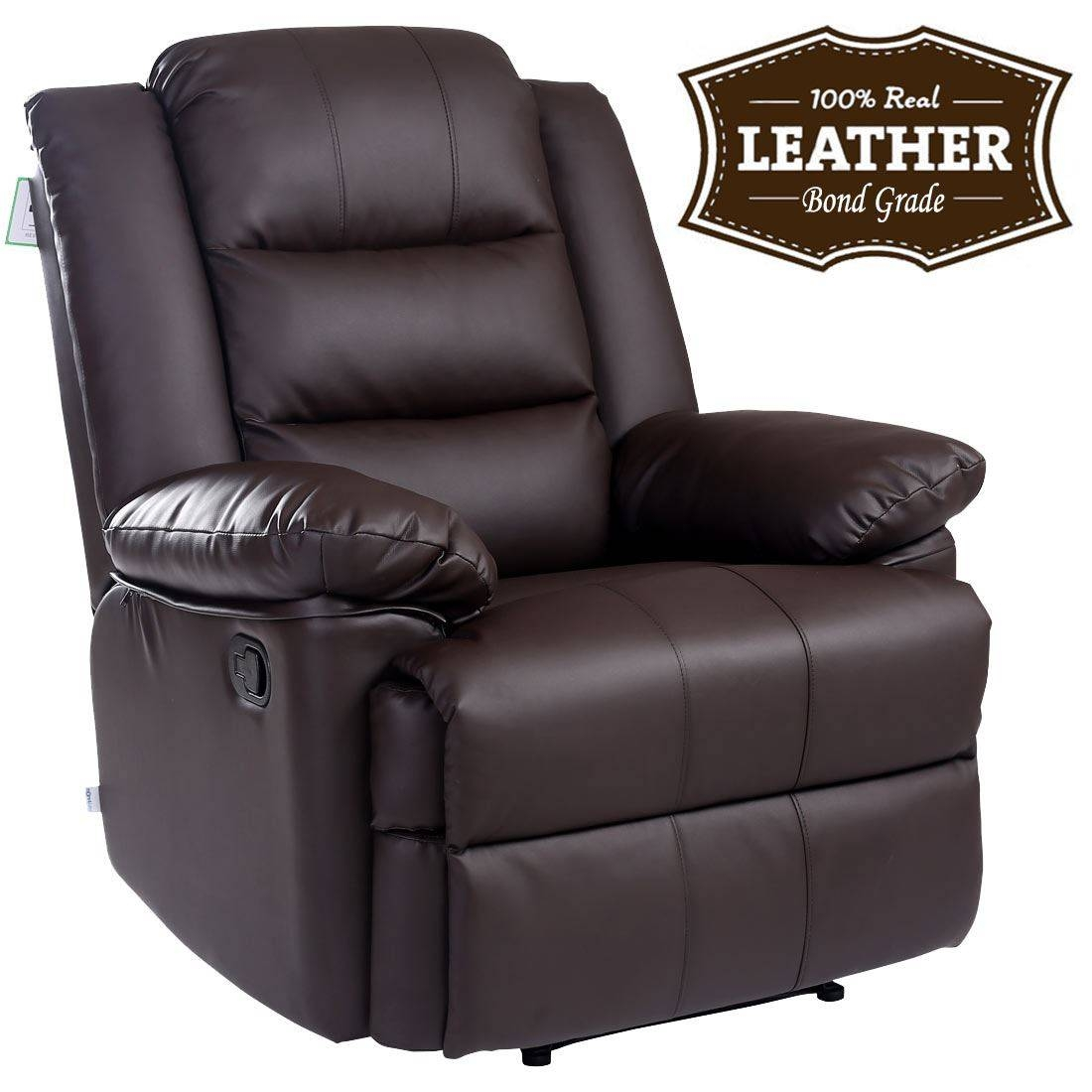 Loxley Leather Recliner Armchair Sofa Home Lounge Chair Reclining intended for Gaming Sofa Chairs (Image 14 of 15)