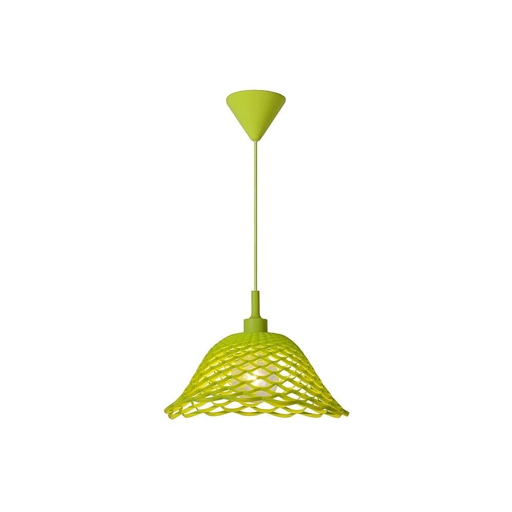 Lucide 08409/37/85 Corti Pendant E27 D37 H20 Green regarding Lime Green Pendant Lights (Image 10 of 15)