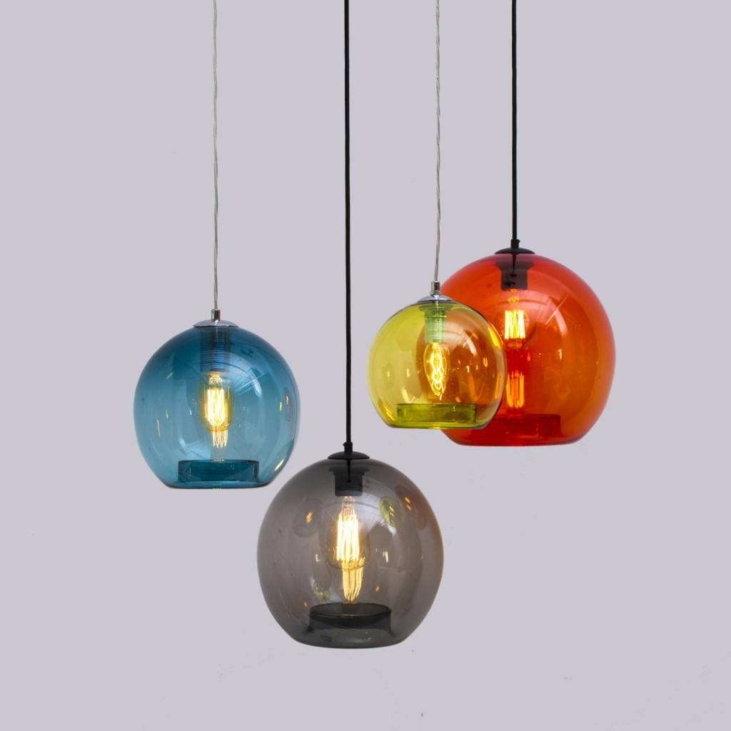Luxe To Less: 5 Of The Best Pendant Lights Intended For Coloured Glass Pendant Lights (View 10 of 15)